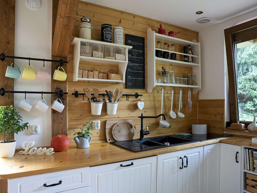 décoration d'une cuisine en bois