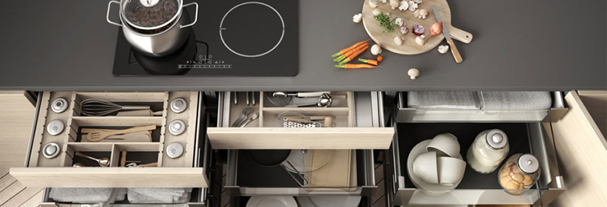 tiroir de cuisine tout équipé
