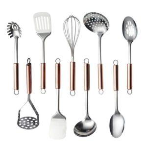 set de 6 accessoires de cuisine en inox