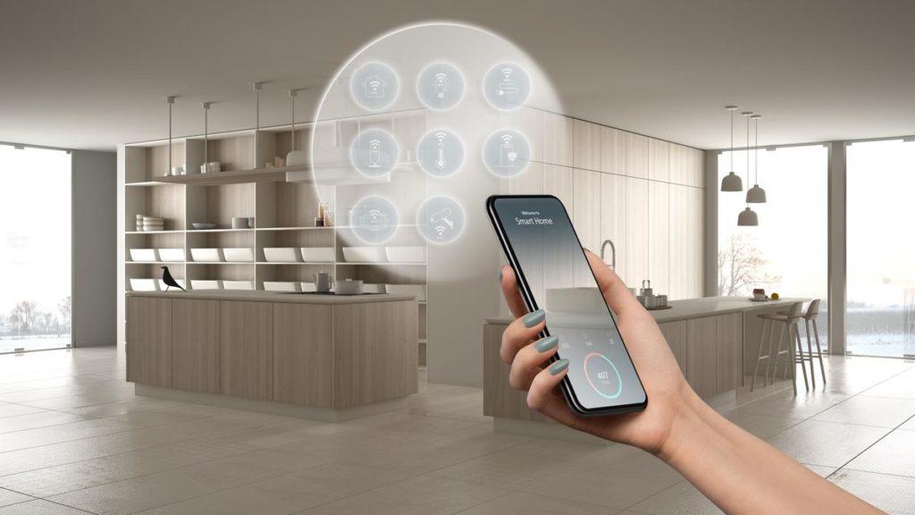 Cuisine domotique contrôlée par un smartphone